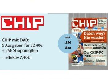 Chip mit DVD: Halbjahresabo für effektiv 7,40 Euro frei Haus