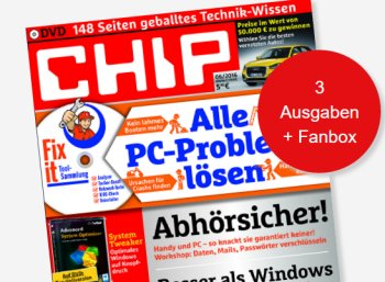 Chip mit DVD: Miniabo mit Fanbox im Wert von 80 Euro für 12,90 Euro