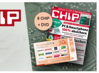 Chip mit DVD: Sechs Ausgaben für zusammen 4,80 Euro frei Haus
