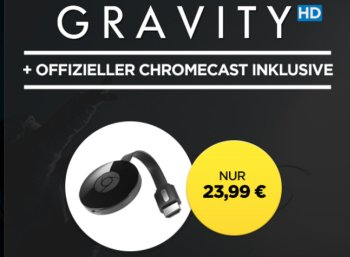 "Wuaki: Google Chromecast inklusive ""Gravity"" in HD für 23,99 Euro"
