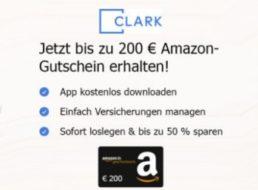 Clark: Bis zu 200 Euro Prämie via Versicherungs-App