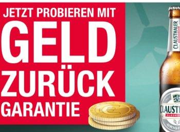 """Gratis: Bis zu 24 Flaschen """"Clausthaler"""" über Cashback-Aktion bis Ende Juli"""