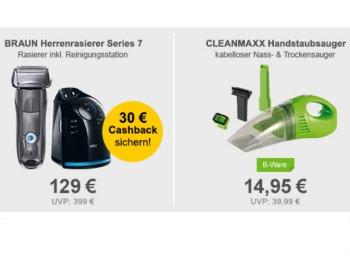 Allyouneed: Cleanmaxx-Handsauger als B-Ware für 14,95 Euro frei Haus