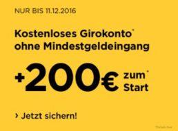 Gratis: 200 Euro zum kostenlosen Commerzbank-Girokonto geschenkt