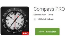 """Gratis: """"Compass Pro"""" im Play-Store für 0 statt 3,99 Euro"""