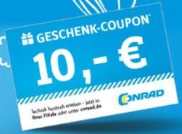 Conrad: Bis zu 30 Euro gratis beim Kauf von Geschenkekarten