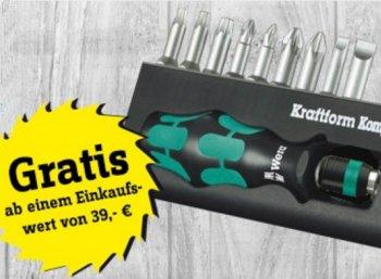 Gratis: Bitset Wera Kraftform Kompakt bei Conrad ab 39 Euro Warenwert
