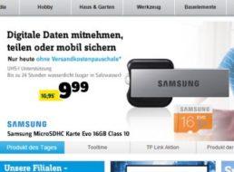 Conrad: Samsung microSDHC-Karte 16 GB für 9,99 Euro