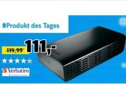Conrad: Verbatim-Festplatte mit vier TByte für 105,45 Euro frei aus