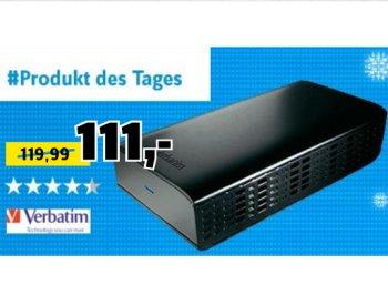 Conrad: Verbatim-Festplatte mit vier TByte für 105,45 Euro frei Haus