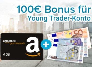 "Gratis: 100 Euro geschenkt beim ""Young-Trader""-Angebot der Consorsbank"