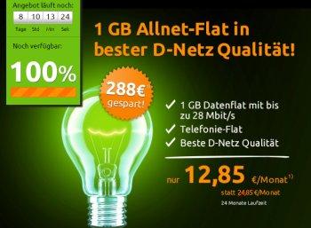 Telekom: GByte-Datenflat mit Allnet-Flat für 12,85 Euro