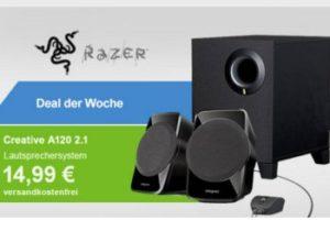 "Allyouneed: Lautsprechersystem ""Creative A120"" als B-Ware für 14,99 Euro"