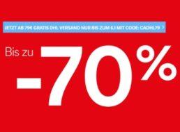C&A: Gratis-Versand ab 79 Euro Warenwert bis Sonntag abend
