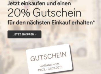 C&A: 20 Prozent Rabatt für den nächsten Einkauf online & offline