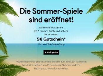 C&A-Gutschein über fünf Euro & Sale mit bis zu 50 Prozent Rabatt