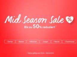 C&A: Midseason-Sale mit bis zu 50 Prozent Rabatt
