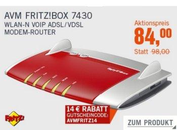 Cyberport: Fritzbox 7430 für 84 Euro frei Haus dank Gutschein