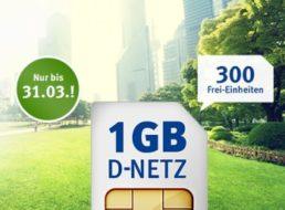 Jetzt noch schneller: GByte-Flat im D2-Netz mit 300 Freieinheiten für 6,99 Euro
