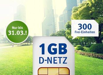 Jetzt mit LTE: GByte-Flat im D2-Netz mit 300 Freieinheiten für 6,99 Euro