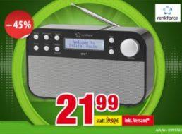 Völkner: DAB-Radio mit UKW zum Bestpreis von 21,99 Euro frei Haus