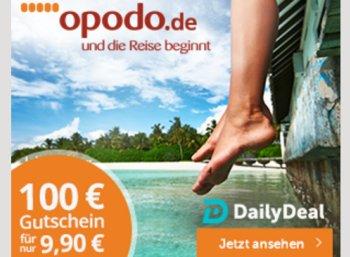 Dailydeal: Opodo-Gutschein über 100 Euro für 9,90 Euro