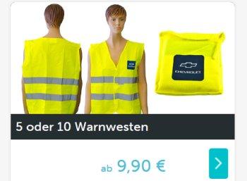 Dailydeal: Fünferpack Warnwesten für 9,90 Euro frei Haus
