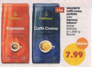 Penny: Kilopack Dallmayr-Kaffeebohnen für 7,99 Euro
