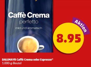 Penny: Dallmayr-Kaffeebohnen für 8,95 Euro im Kilopack