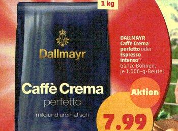 Penny: Kilopack Dallmayr für 7,99 Euro bis Samstag
