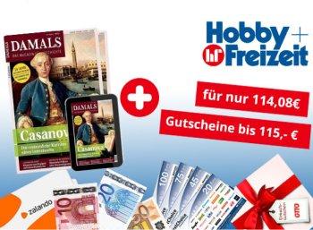 Damals: Jahresabo für 114,08 Euro mit Gutschein über 115 Euro