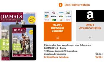 """""""Damals"""": Zeitschrift im Jahresabo für 4,36 Euro dank Bestchoice-Gutschein"""