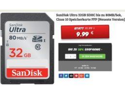 Dealclub: Sandisk Ultra SDHC mit 32 GByte für 9,99 Euro frei Haus