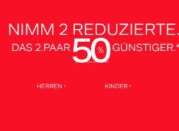 Deichmann: 50 Przoent Rabatt auf das zweite Paar reduzierte Schuhe