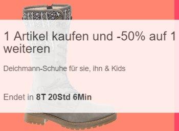 Deichmann: Zweites Paar mit 50 Prozent Rabatt via Ebay