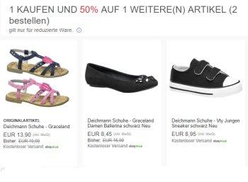 Deichmann: Zwei Paar Schuhe / Sandalen für zusammen 12,68 Euro frei Haus