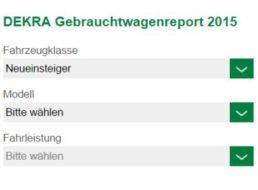 Dekra: Gebrauchtwagenreport 2015 nennt die zuverlässigsten PKWs