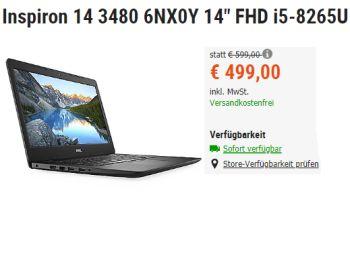 Cyberport: Dell-Notebook mit IPS-Display und Fingerprint für 499 Euro