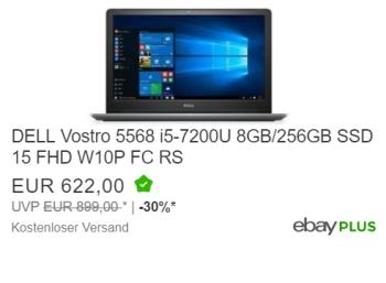 Dell: Vostro 5568 mit SSD, i5-CPU und Fingerprint für 578,46 Euro