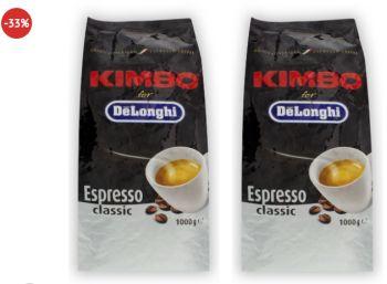 "Dealclub: Zwei Kilo Kaffeebohnen ""Kimbo DeLonghi Espresso"" für 19,99 Euro"