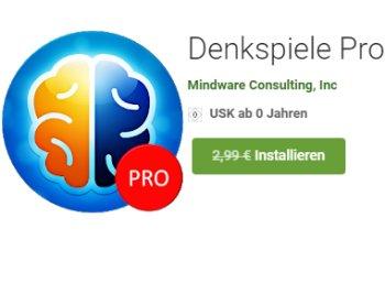 """Gratis: App """"Denkspiele Pro"""" bei Google Play zum Nulltarif"""