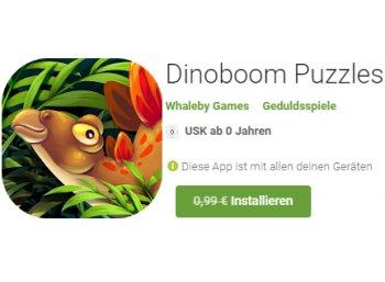 "Gratis: App ""Dinoboom Puzzles"" bei Google Play zum Nulltarif"