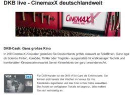 Gratis-Kino: DKB-Kunden schauen am 25.10.2016 im Cinemaxx für 0 Euro