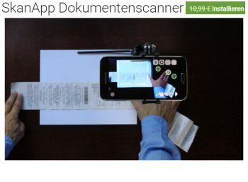 """Gratis: """"SkanApp Dokumentenscanner"""" für kurze Zeit zum Nulltarif"""