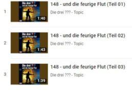 """Gratis: """"Die drei ??? und die feurige Flut"""" im Stream bei Youtube"""