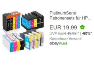 Ebay: Druckerpatronen-Sets für Brother, Canon, Epson und HP für 19,99 Euro