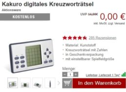 Druckerzubehoer.de: Elf Artikel für zusammen 5,97 Euro mit Versand