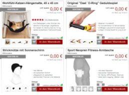 Druckerzubehoer.de: Katzen-Hängematte und Fitness-Taschen für 0 Euro