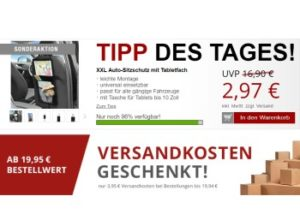 Druckerzubehoer.de: Auto-Sitzschutz für 2,97 Euro und gesenkte Versandkosten