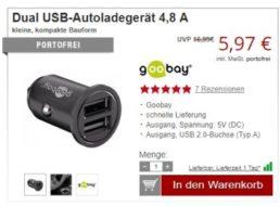 Druckerzubehoer.de: USB-Autoladegerät für 5,97 Euro frei Haus